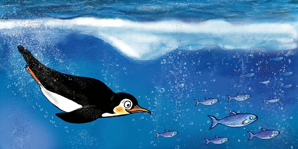 Flim-Pinguin-Beispielbild2-GruenerSinn-Verlag-veganverlag